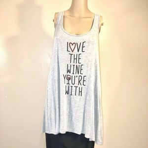 Eyeshadow Tank Tunic Top Love The Wine You're With
